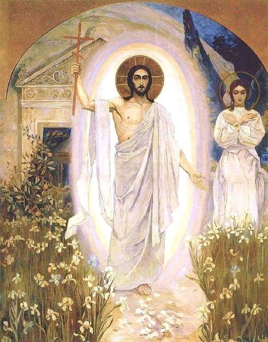 Resurrection, 1890s, Mikhail Nesterov