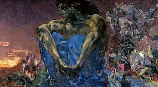 Demon Mikhail Vrubel - 1890 (full body)