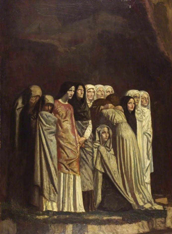 Bell, Robert Anning, 1863-1933; The Women Stood Afar off Beholding These Things